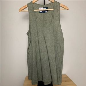 Pure + Good Olive flowy Green Tank Top